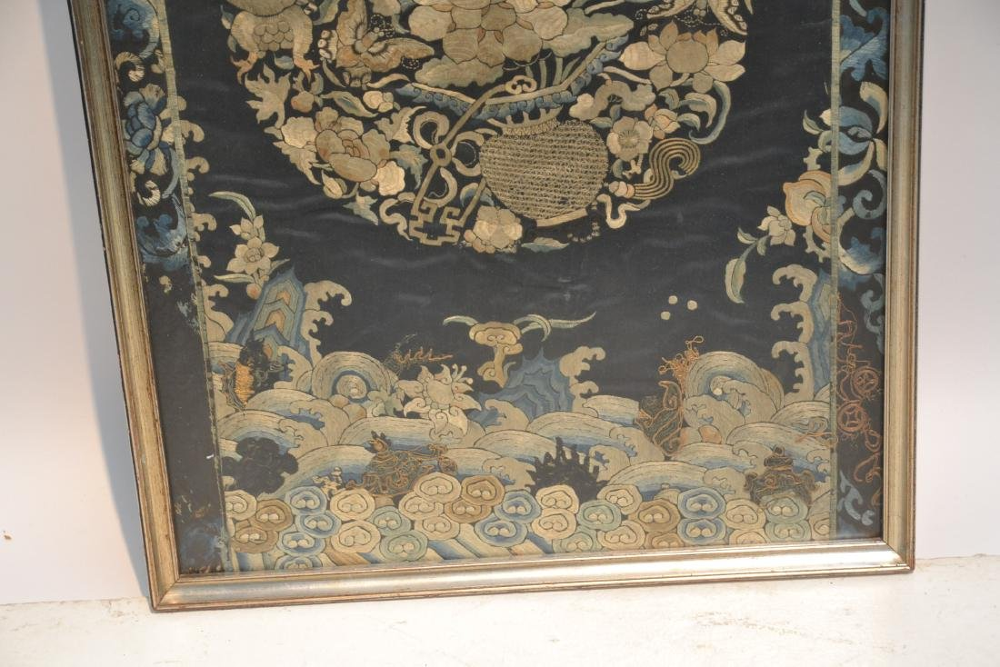 "ANTIQUE CHINESE NEEDLE WORK - 18 1/2"" x 41"" - 6"