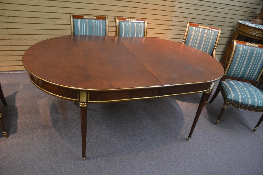 OVAL DIRECTOIRE STYLE DINING TABLE & (6) CHAIRS - 10