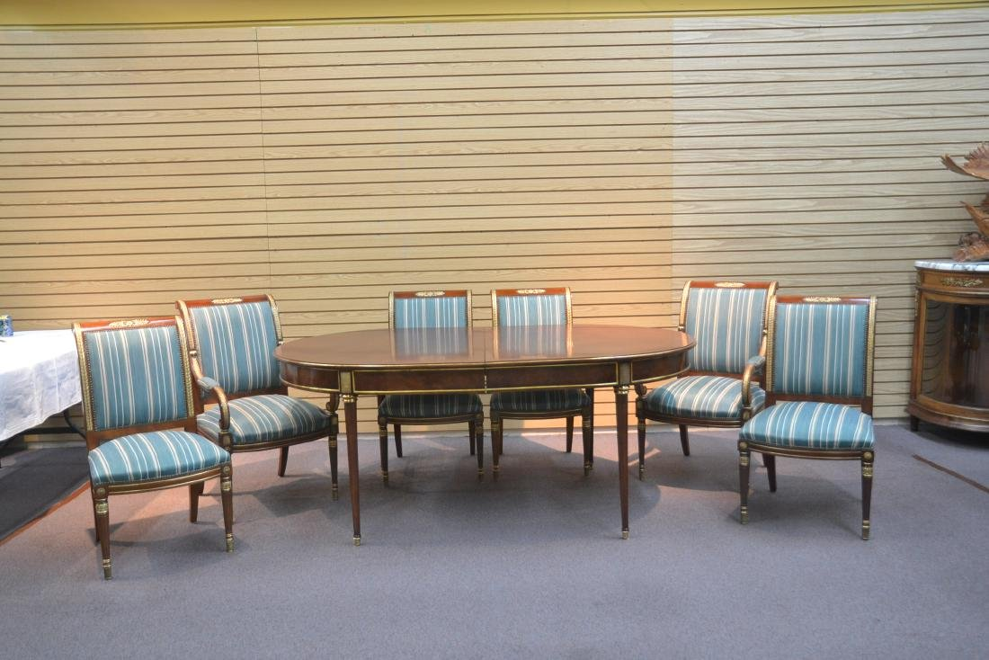 OVAL DIRECTOIRE STYLE DINING TABLE & (6) CHAIRS - 2