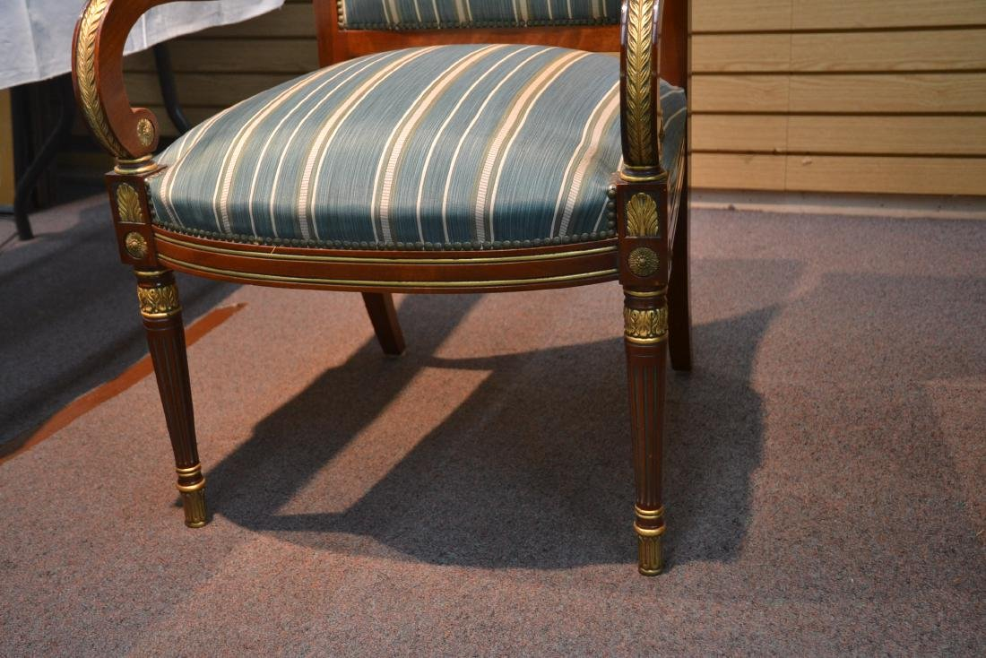 OVAL DIRECTOIRE STYLE DINING TABLE & (6) CHAIRS - 9
