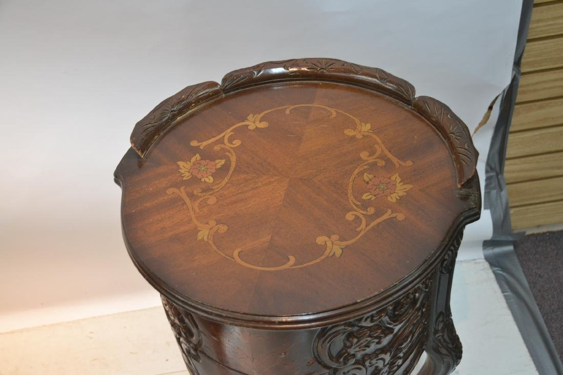 (3)pc INLAID COFFEE TABLE & (Pr) END TABLE SET - 7