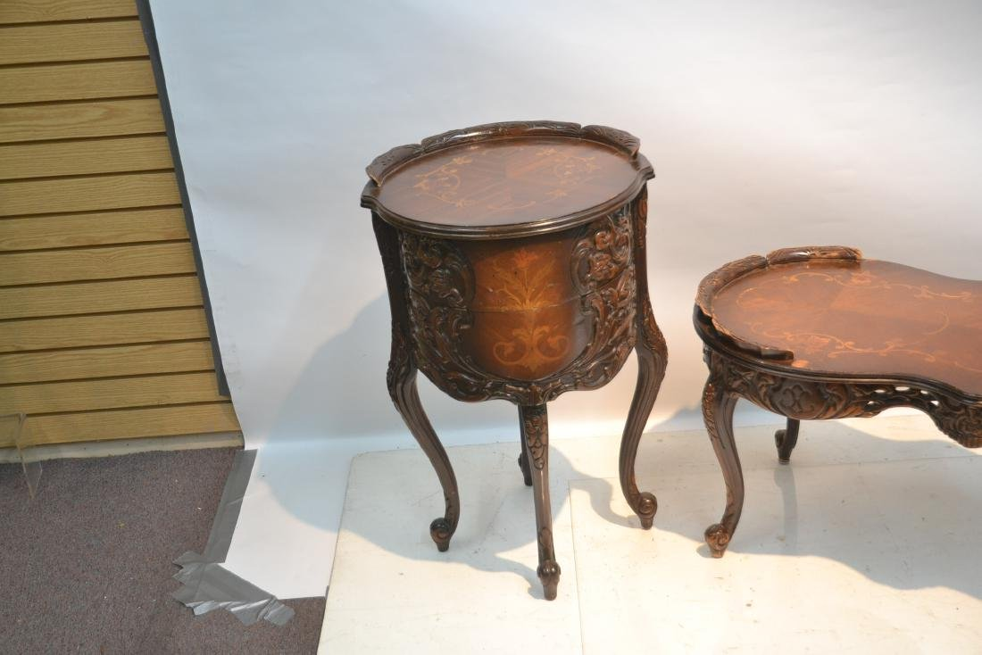 (3)pc INLAID COFFEE TABLE & (Pr) END TABLE SET - 8