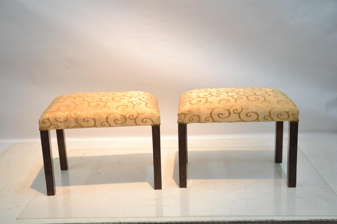 (Pr) UPHOLSTERED BENCHES - 8