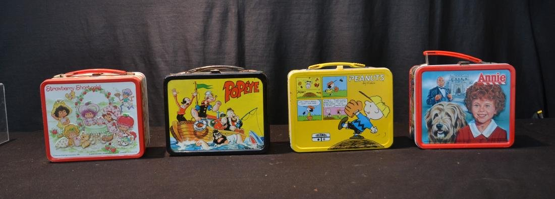 (4) VINTAGE TIN LITHOGRAPHED LUNCH BOXES
