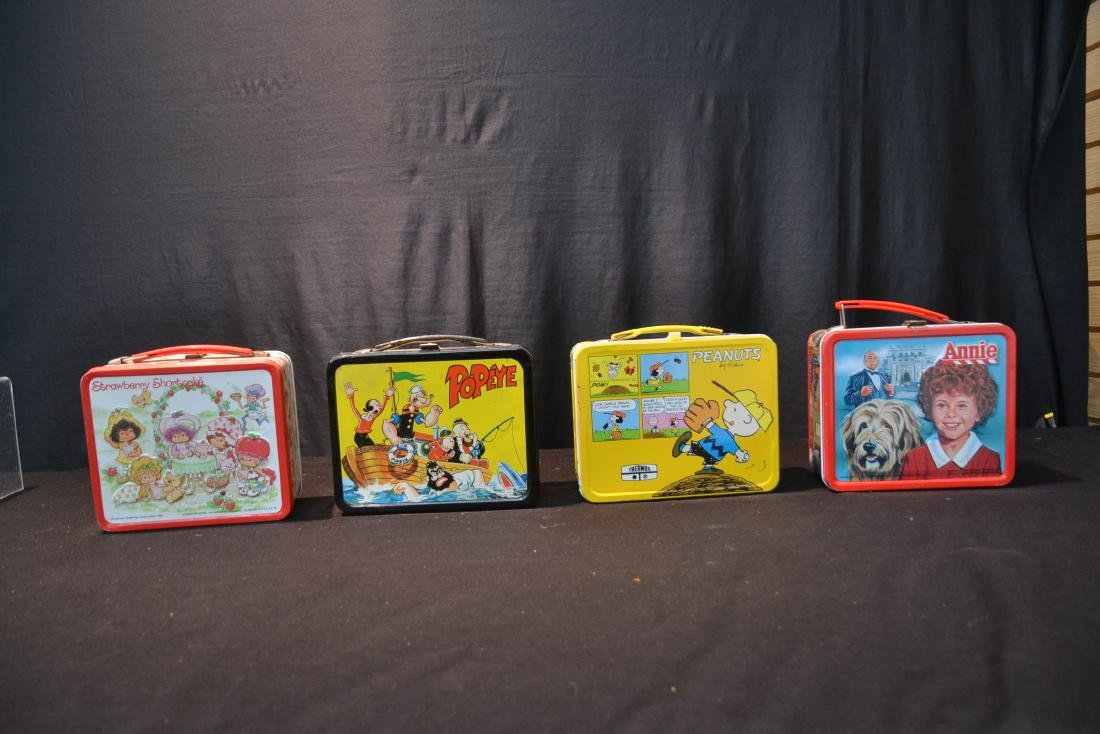 (4) VINTAGE TIN LITHOGRAPHED LUNCH BOXES - 2