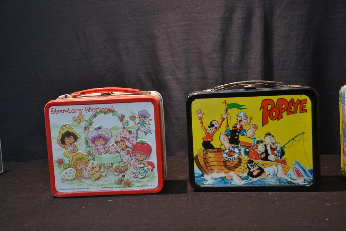 (4) VINTAGE TIN LITHOGRAPHED LUNCH BOXES - 4