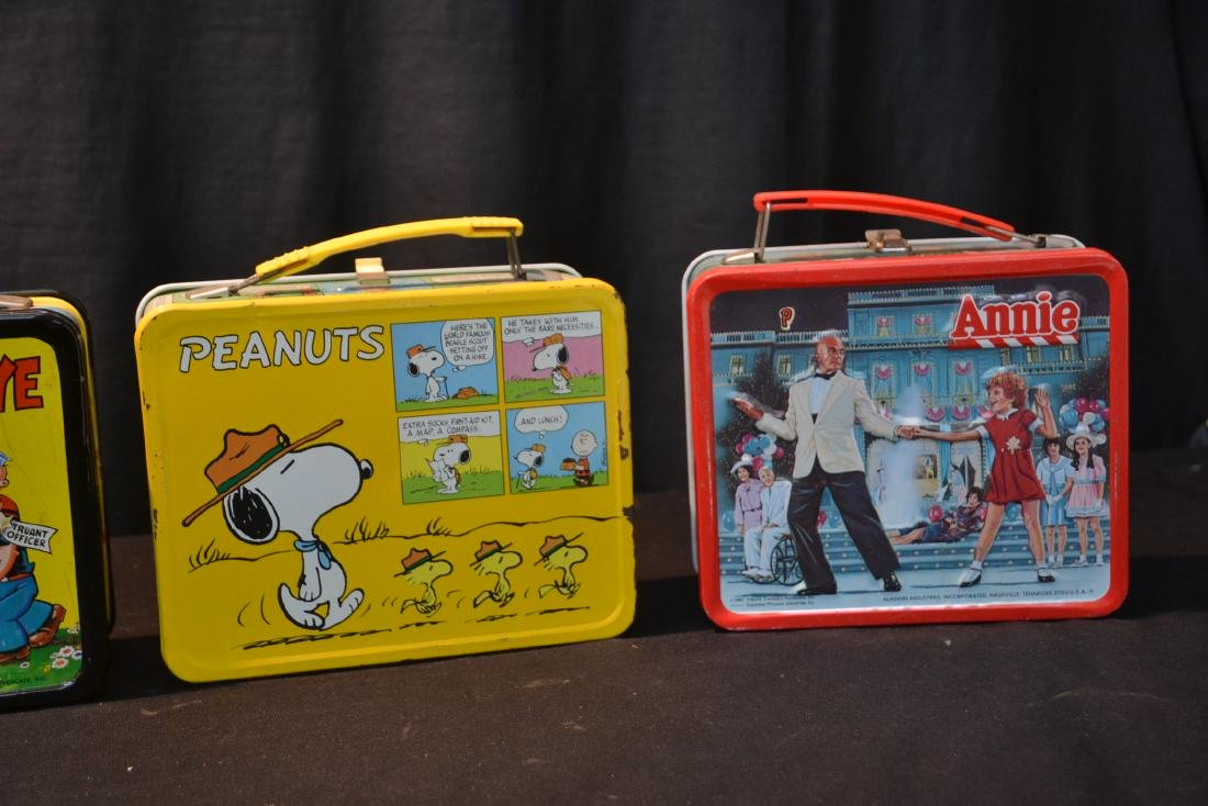 (4) VINTAGE TIN LITHOGRAPHED LUNCH BOXES - 6