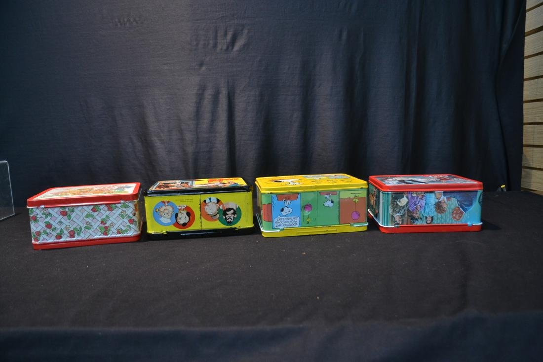 (4) VINTAGE TIN LITHOGRAPHED LUNCH BOXES - 7