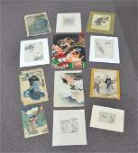 ASSORTED JAPANESE WOOD BLOCK PRINTS