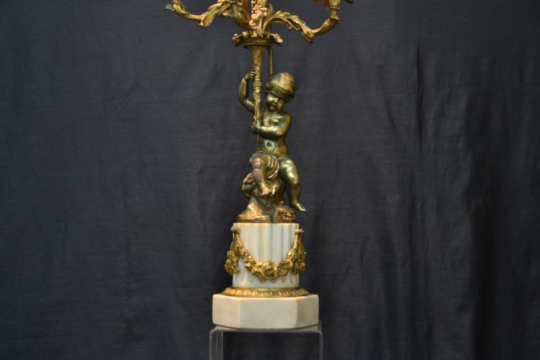 BRONZE PUTTI CANDELABRA LAMP - 3