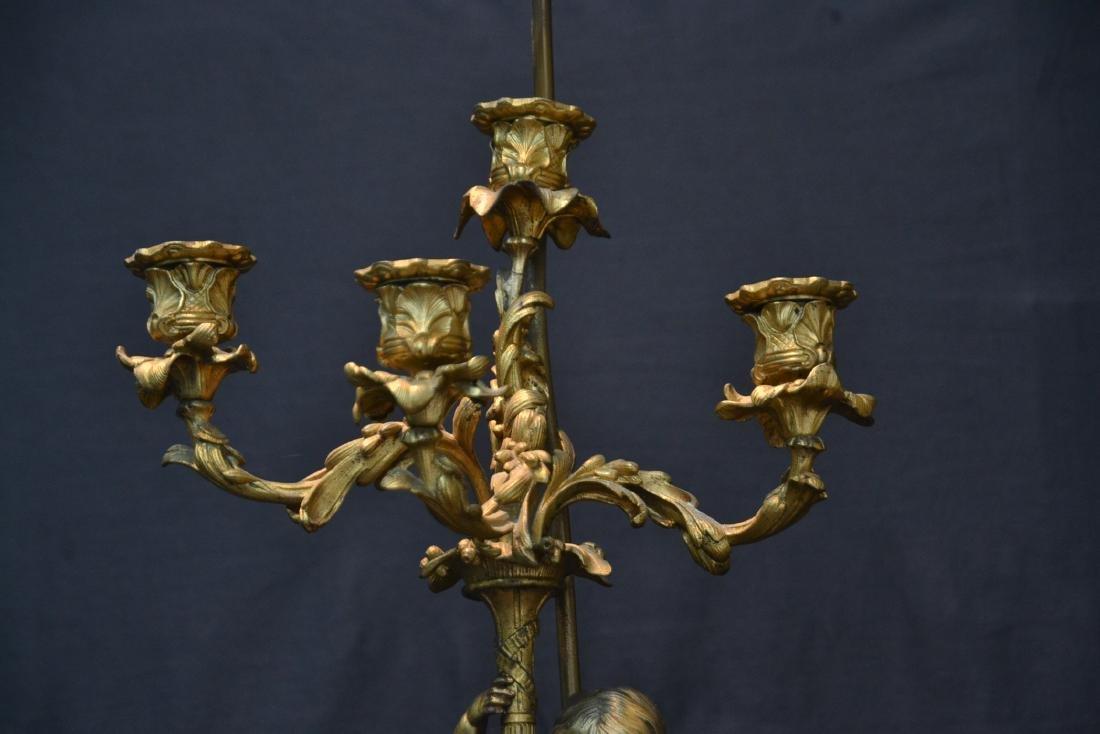 BRONZE PUTTI CANDELABRA LAMP - 5