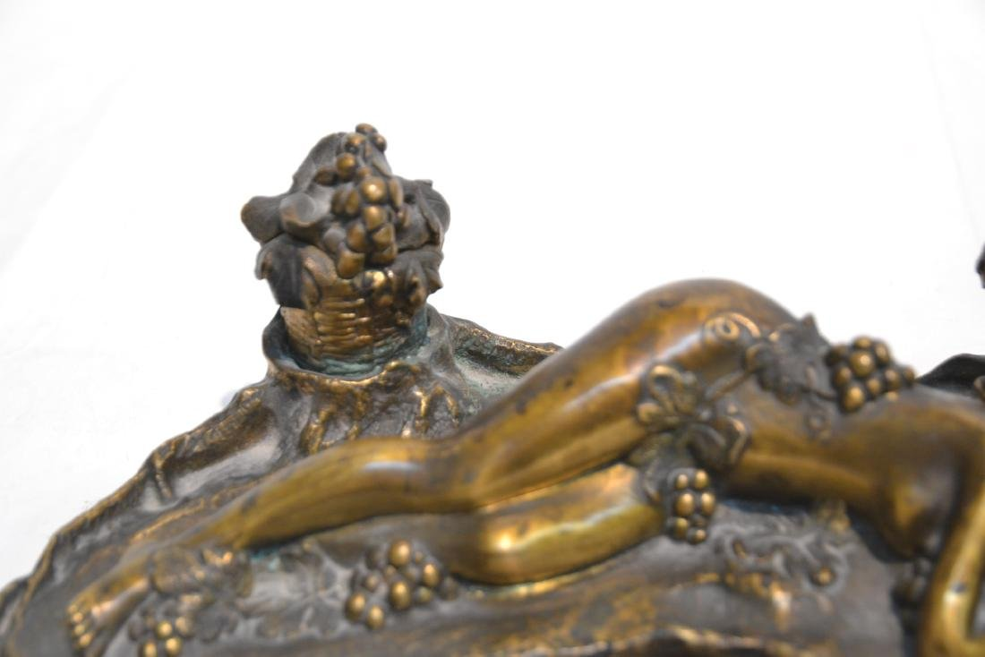 PAUL PHILIPPE (FRENCH, 1870-1930) BRONZE INKWELL - 6