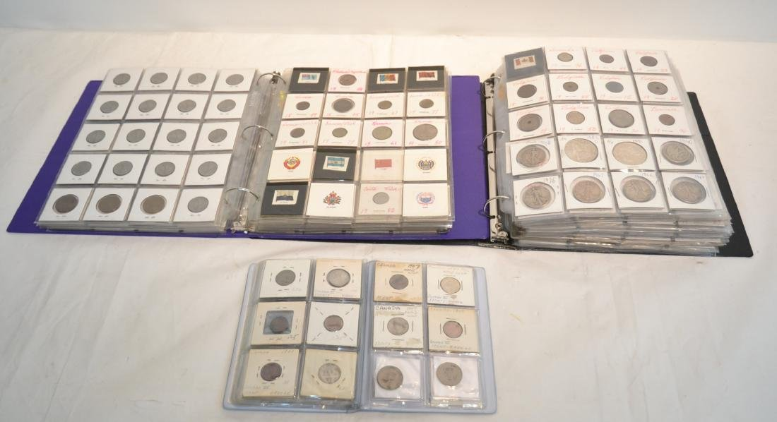 (3) BINDERS OF ASSORTED UNITED STATES & FOREIGN
