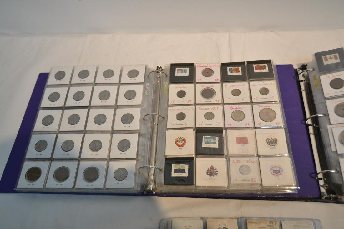 (3) BINDERS OF ASSORTED UNITED STATES & FOREIGN - 4