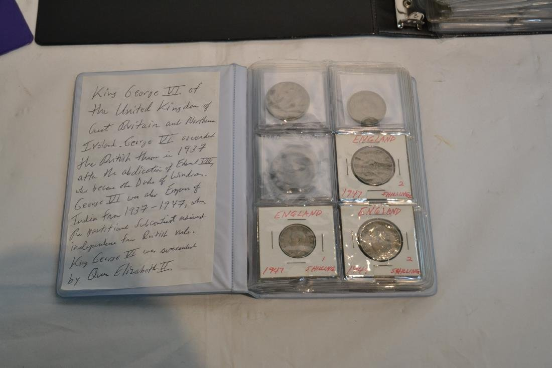 (3) BINDERS OF ASSORTED UNITED STATES & FOREIGN - 8