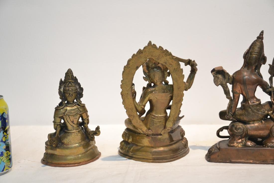 (4) TIBETAN ? BRONZE BUDDHA FIGURES - 10