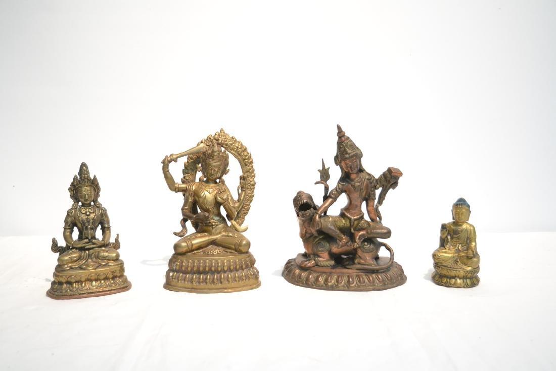 (4) TIBETAN ? BRONZE BUDDHA FIGURES - 2