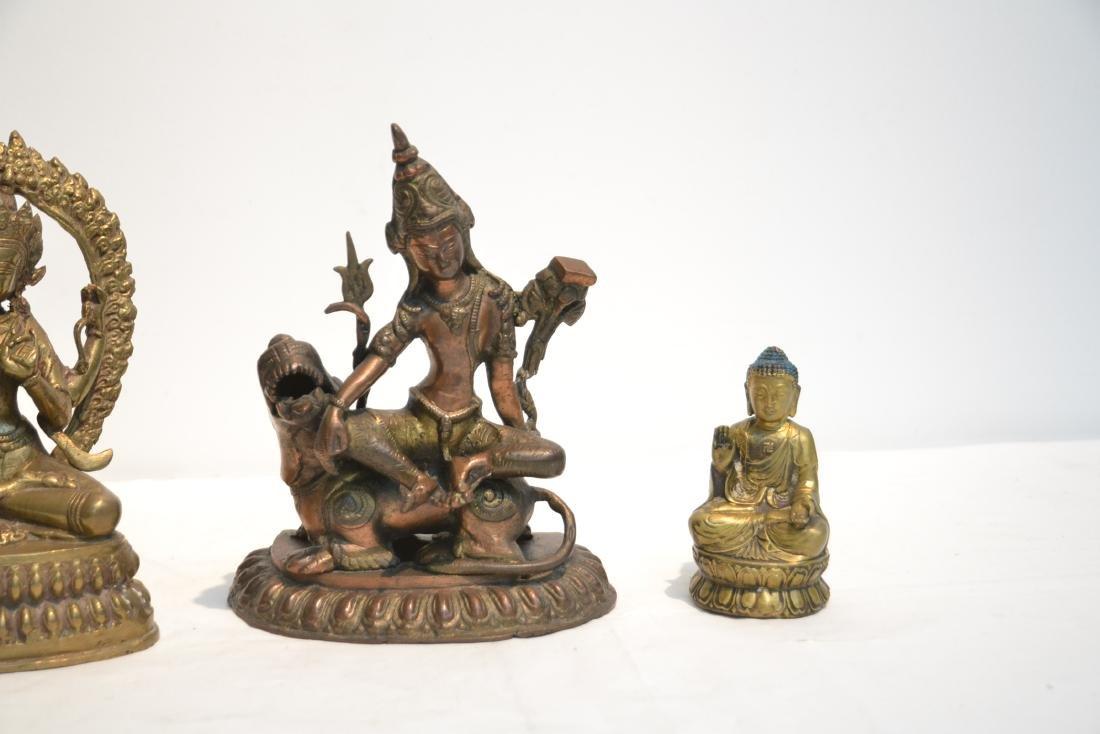 (4) TIBETAN ? BRONZE BUDDHA FIGURES - 3