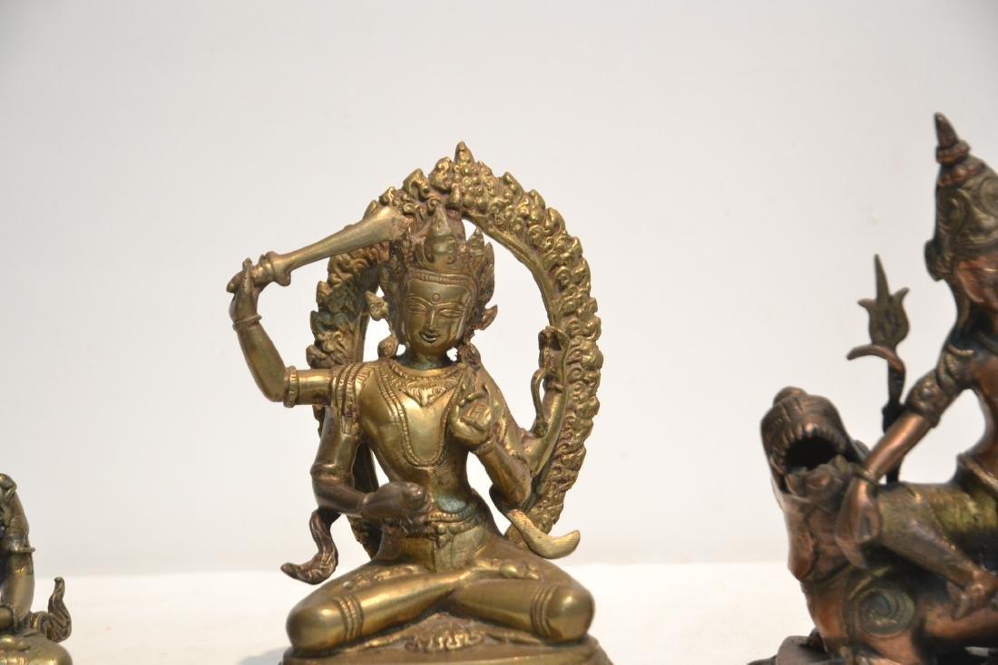 (4) TIBETAN ? BRONZE BUDDHA FIGURES - 5