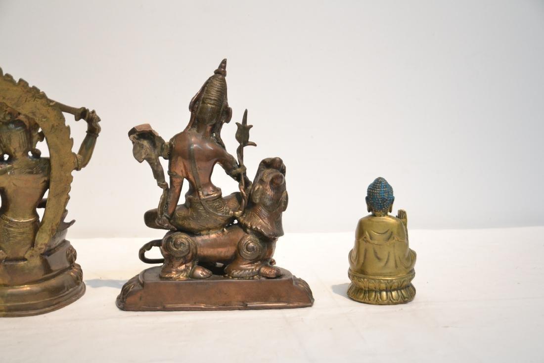 (4) TIBETAN ? BRONZE BUDDHA FIGURES - 9