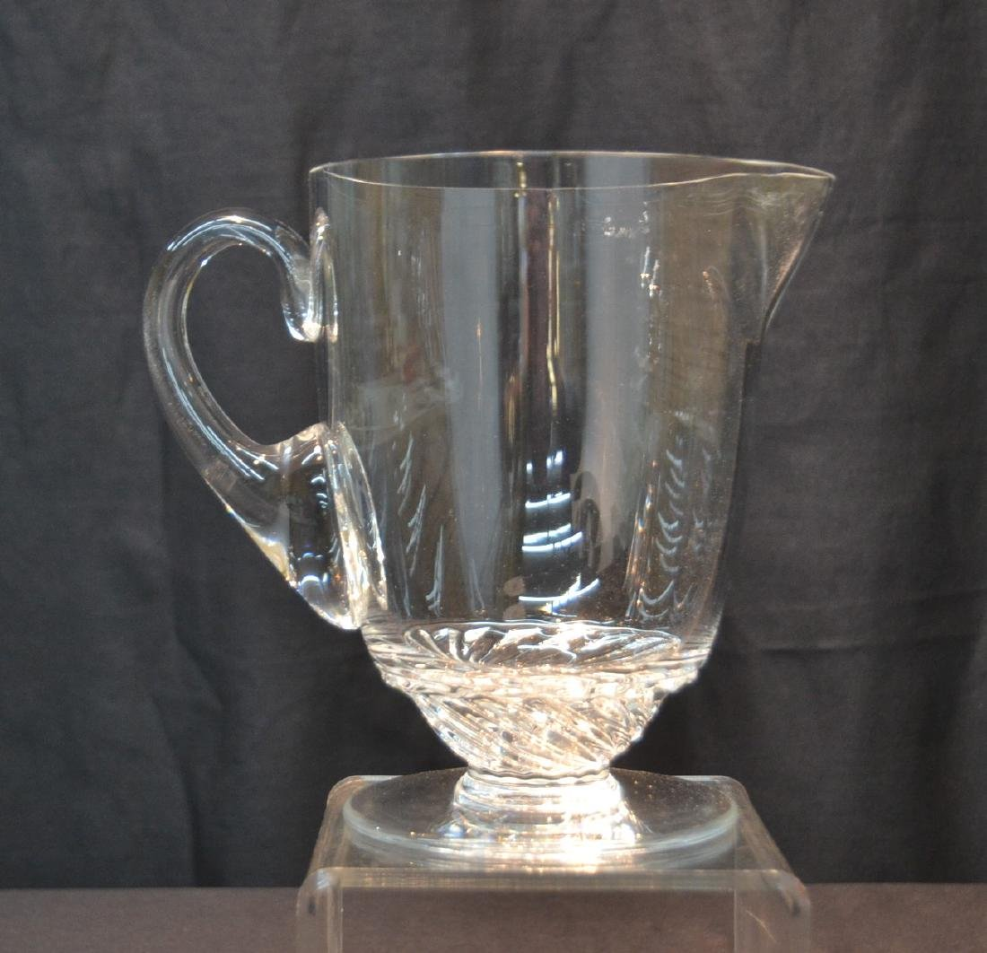 """LALIQUE CRYSTAL PITCHER - 8"""" x 5"""" x 7 1/2"""""""