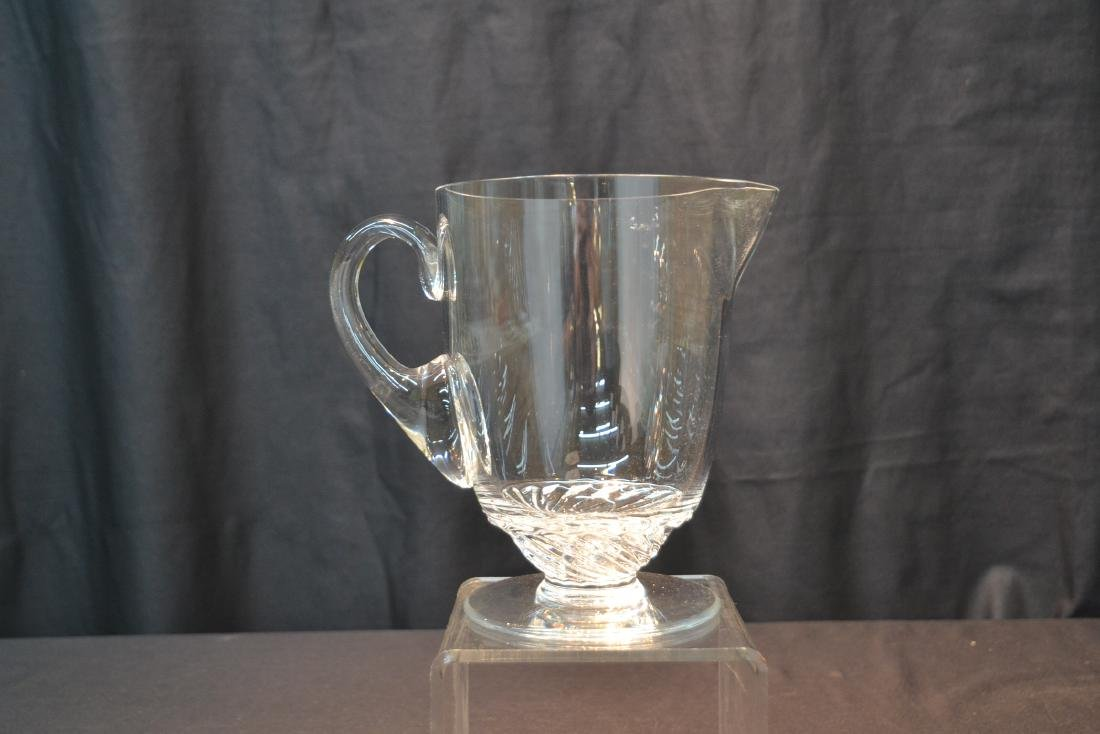 """LALIQUE CRYSTAL PITCHER - 8"""" x 5"""" x 7 1/2"""" - 2"""