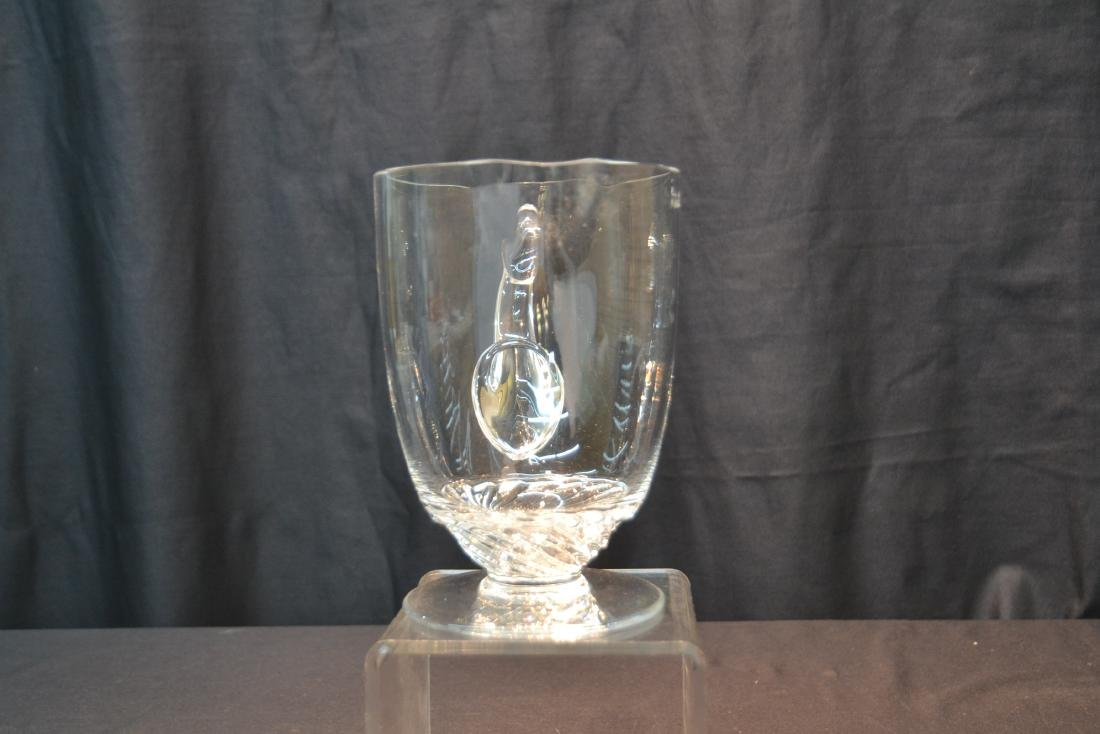 """LALIQUE CRYSTAL PITCHER - 8"""" x 5"""" x 7 1/2"""" - 4"""