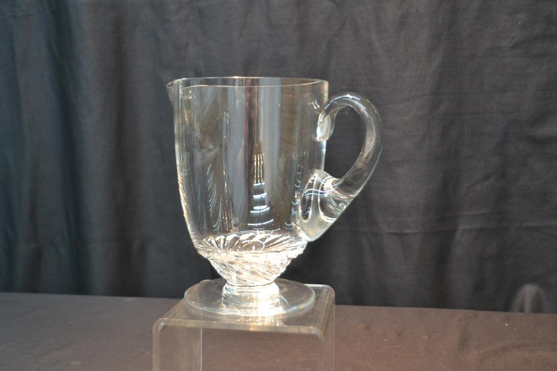 """LALIQUE CRYSTAL PITCHER - 8"""" x 5"""" x 7 1/2"""" - 5"""