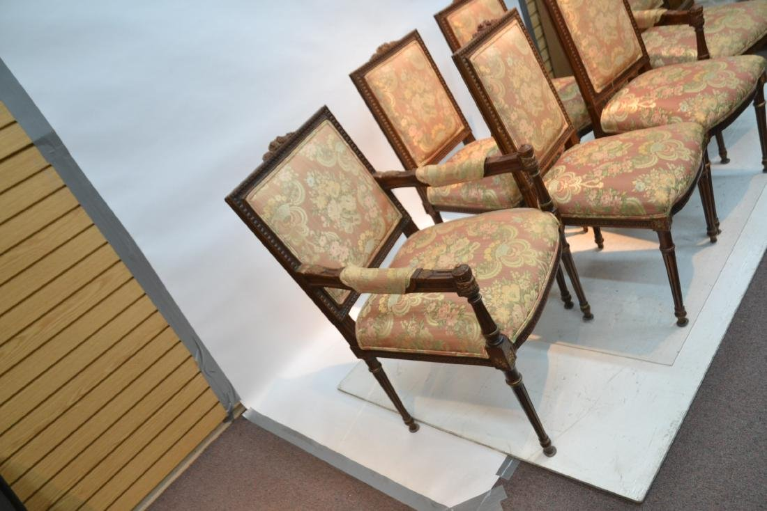 (6) UPHOLSTERED LXVI STYLE CHAIRS WITH - 4