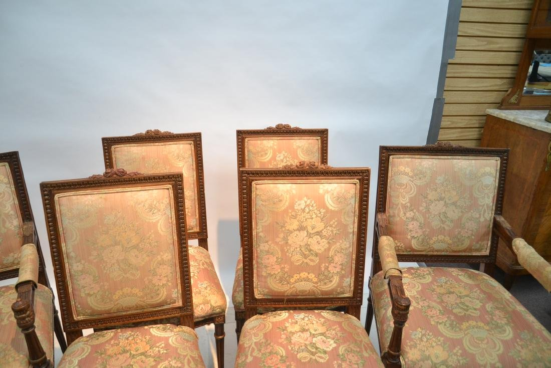(6) UPHOLSTERED LXVI STYLE CHAIRS WITH - 6