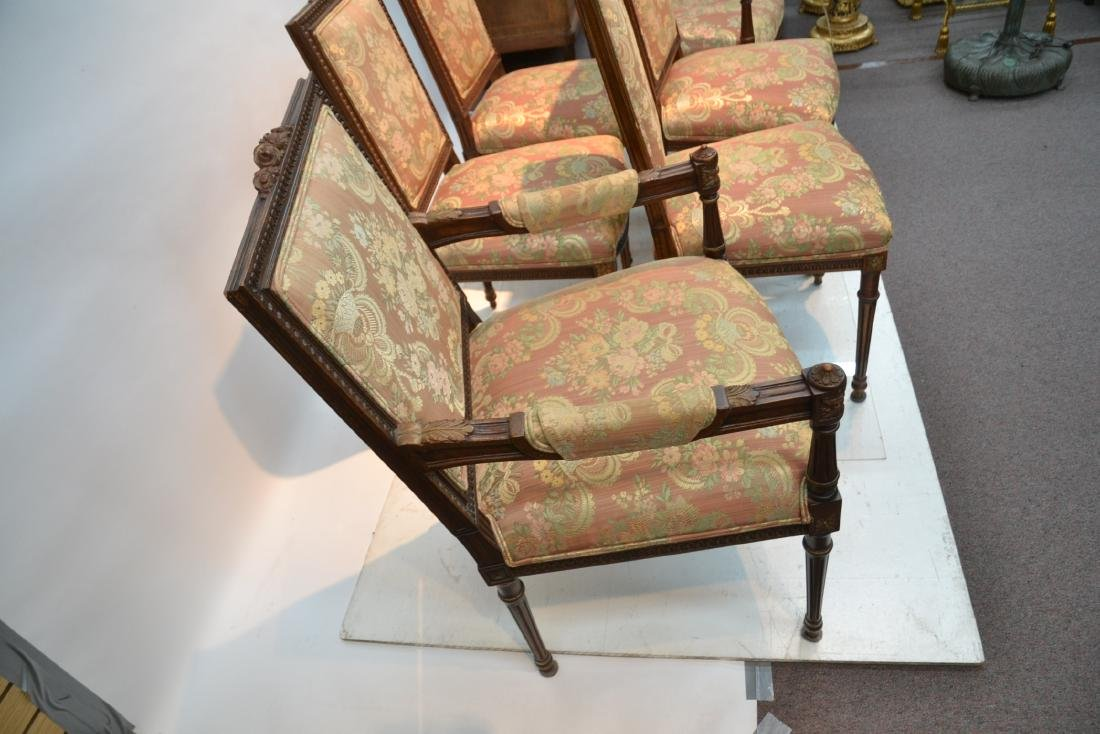 (6) UPHOLSTERED LXVI STYLE CHAIRS WITH - 9