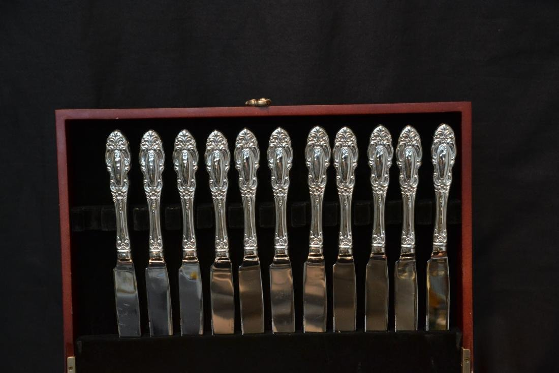 WALLACE STAINLESS STEEL FLATWARE SET FOR (12) - 3