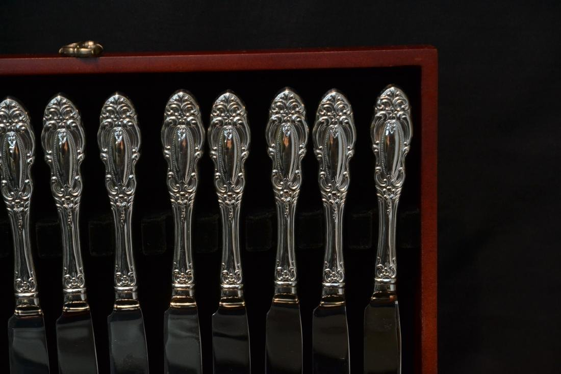 WALLACE STAINLESS STEEL FLATWARE SET FOR (12) - 4