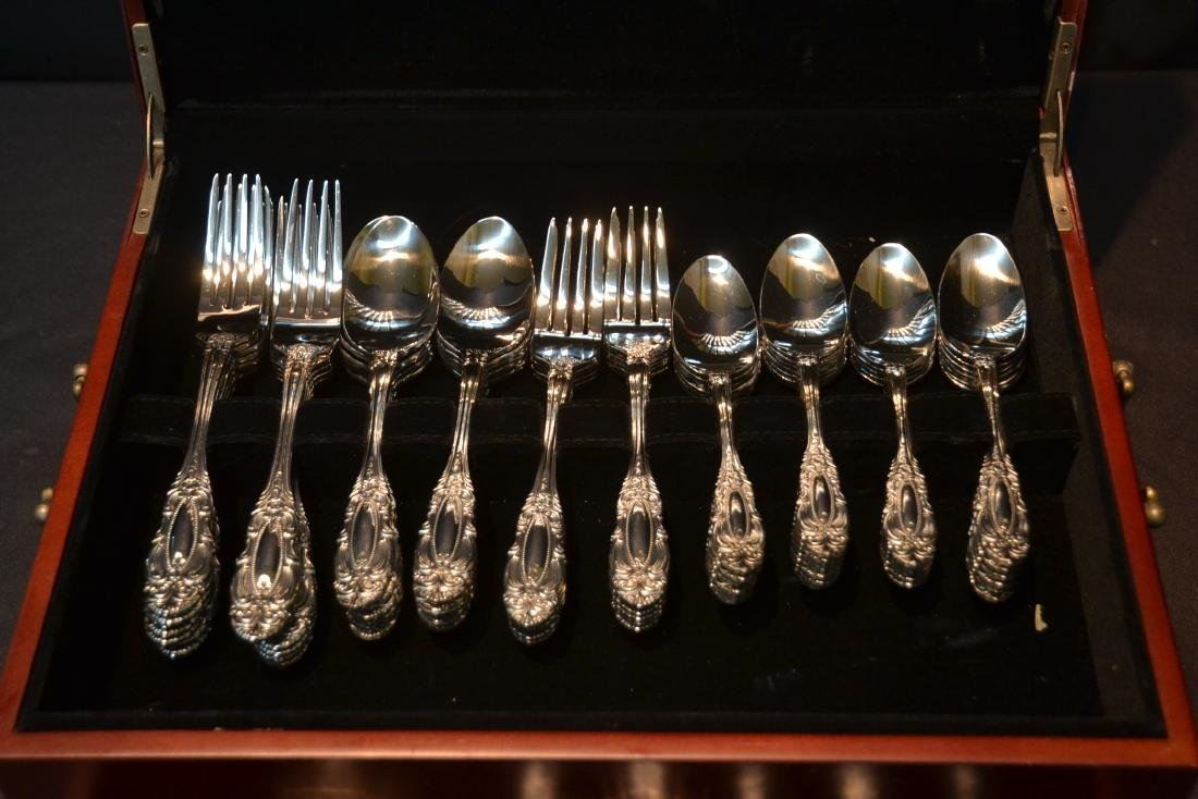 WALLACE STAINLESS STEEL FLATWARE SET FOR (12) - 5