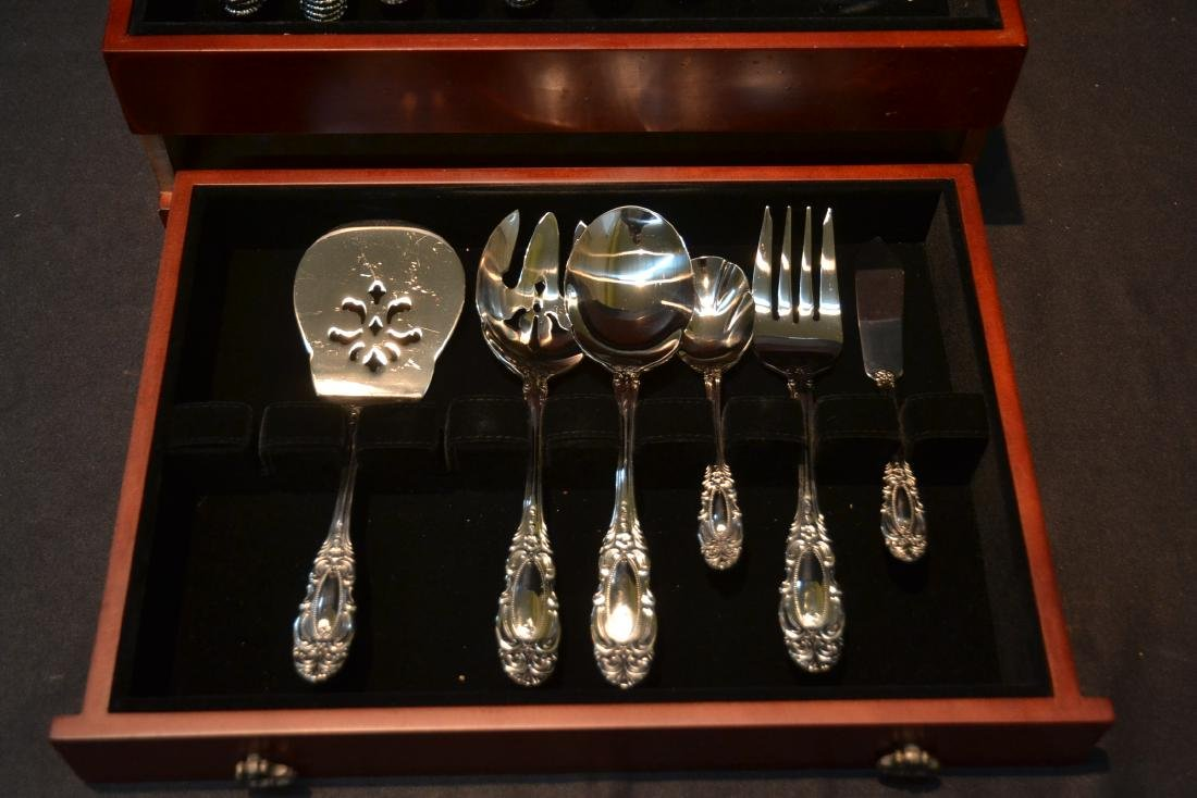 WALLACE STAINLESS STEEL FLATWARE SET FOR (12) - 7