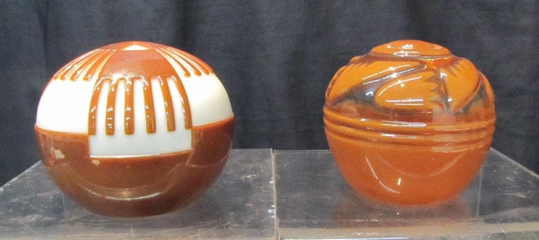 (2) LEONARD DINARDO , ART GLASS PAPERWEIGHTS