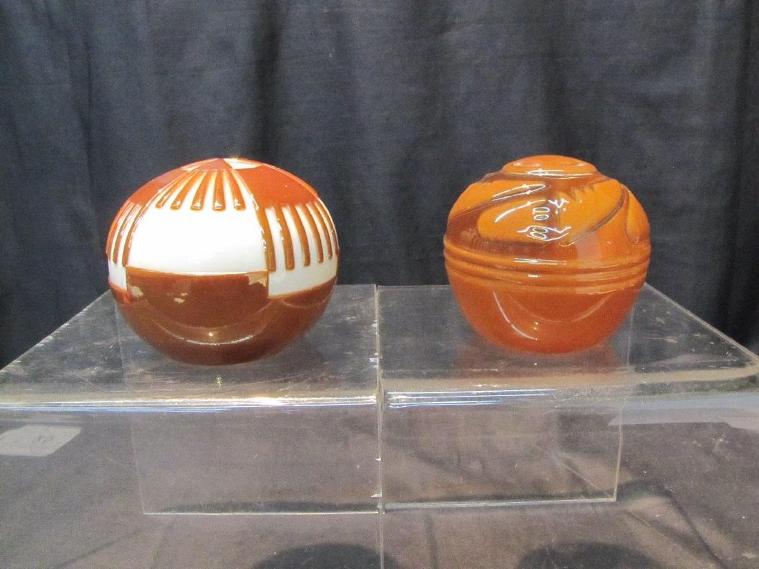 (2) LEONARD DINARDO , ART GLASS PAPERWEIGHTS - 2
