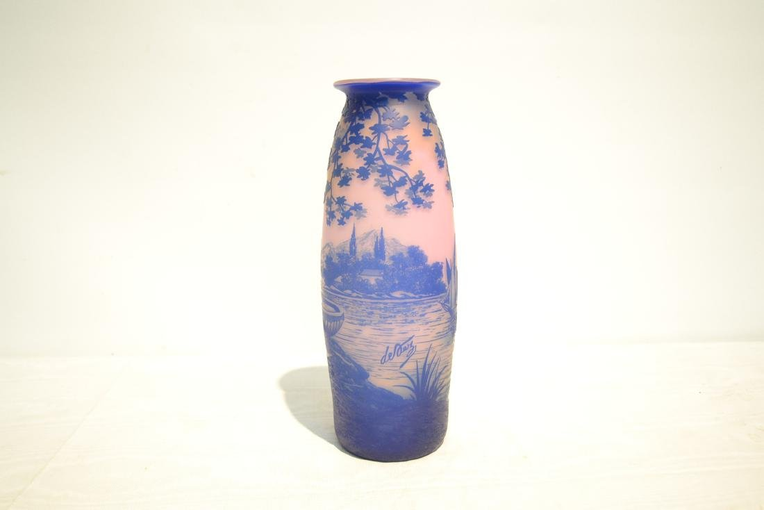 DEVEZ FRENCH CAMEO ART GLASS VASE - 4