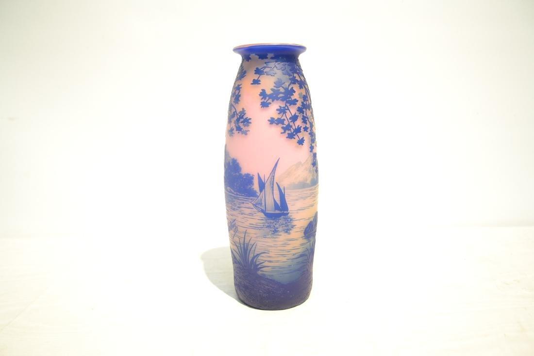 DEVEZ FRENCH CAMEO ART GLASS VASE - 5