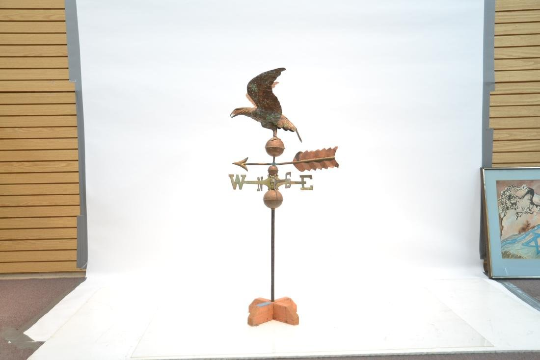 LARGE COPPER EAGLE WEATHER VANE WITH - 2