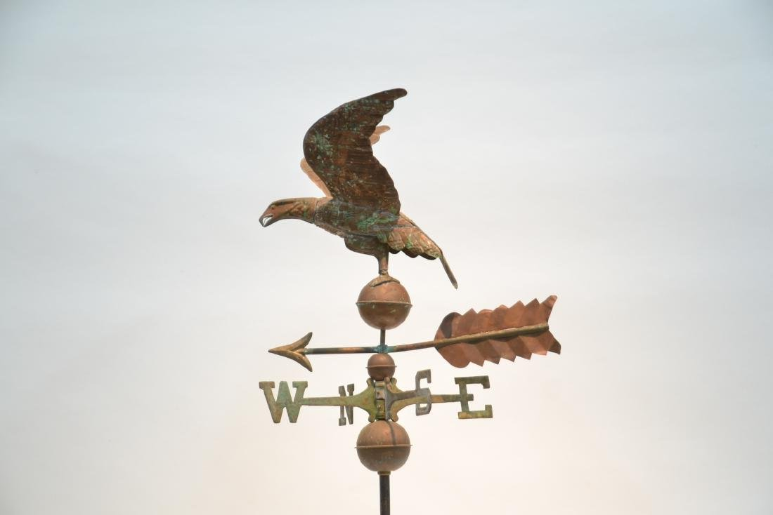 LARGE COPPER EAGLE WEATHER VANE WITH - 3