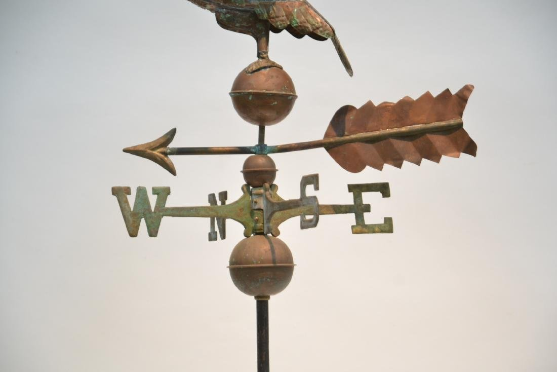 LARGE COPPER EAGLE WEATHER VANE WITH - 5