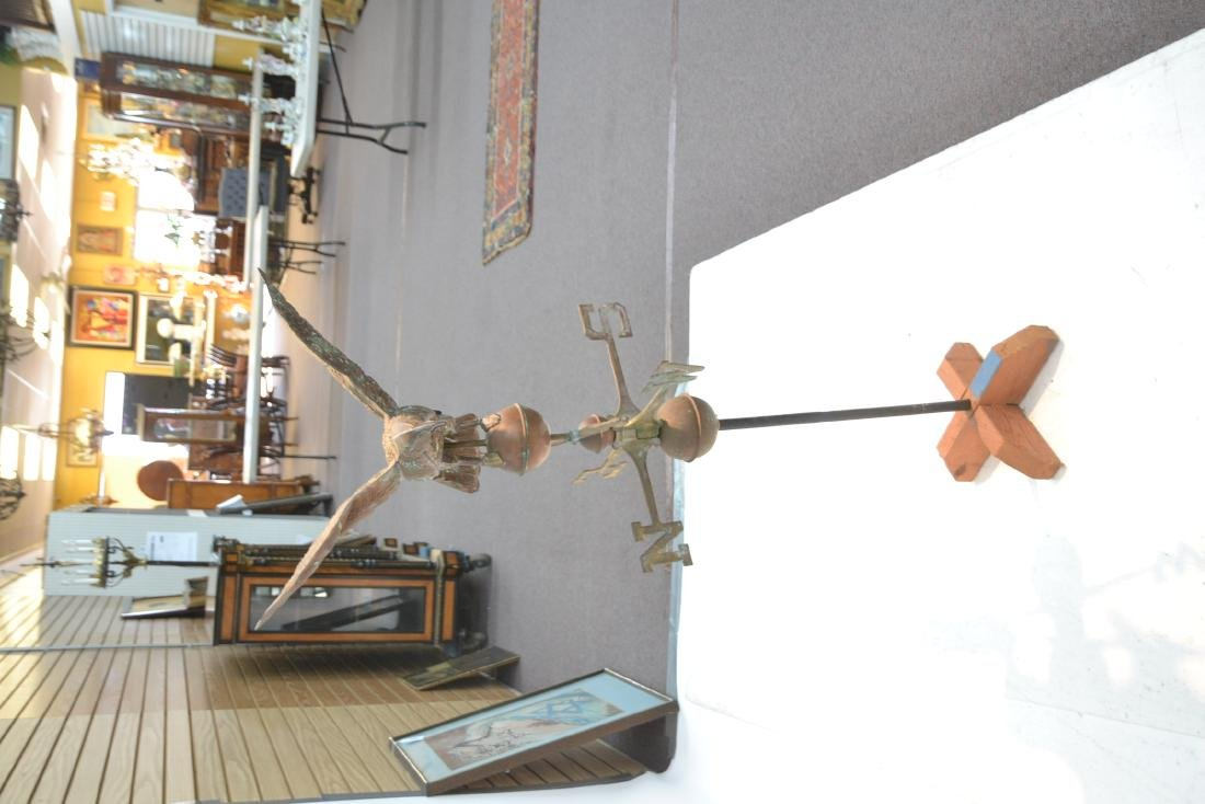 LARGE COPPER EAGLE WEATHER VANE WITH - 6