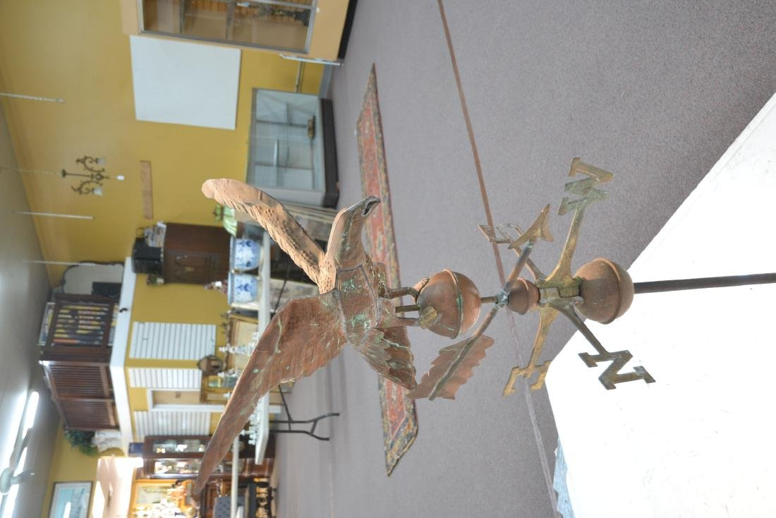 LARGE COPPER EAGLE WEATHER VANE WITH - 7