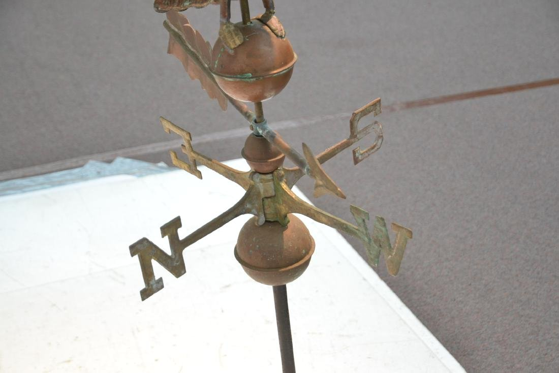 LARGE COPPER EAGLE WEATHER VANE WITH - 8