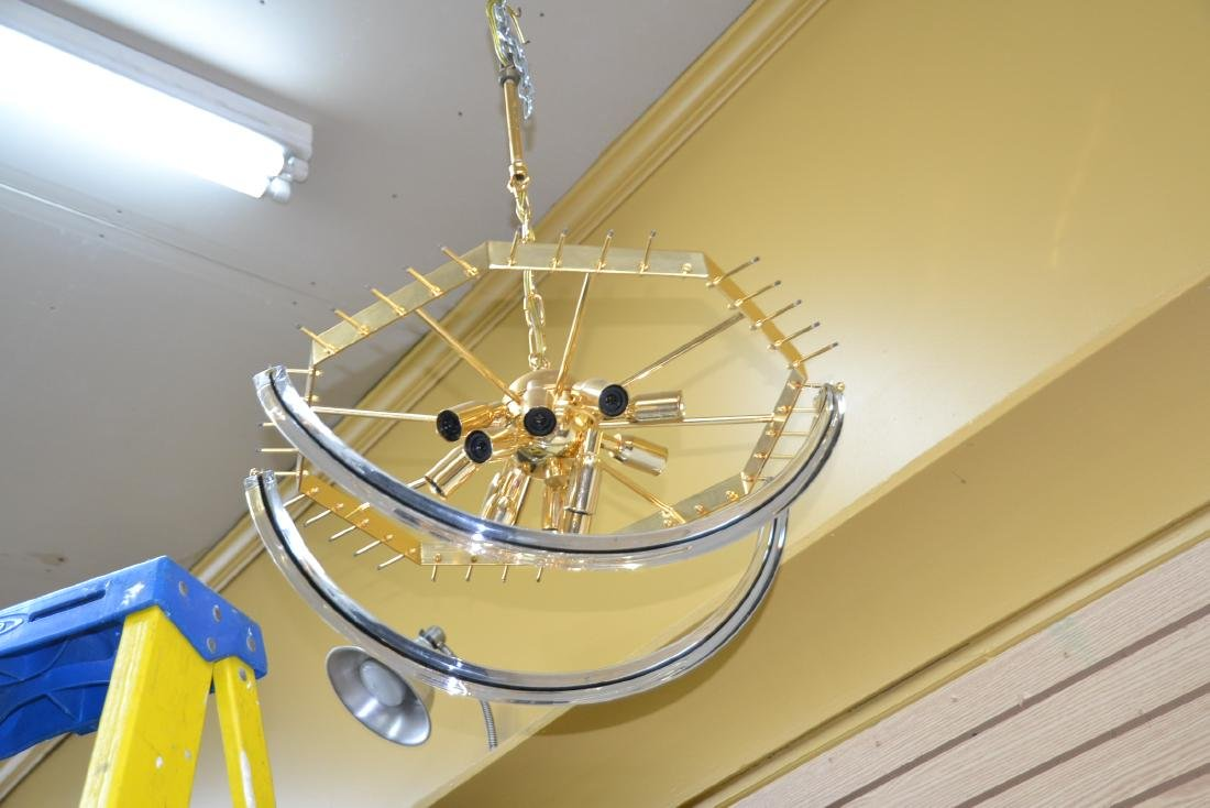 MODERN ARCHED MURANO GLASS CHANDELIER - 10