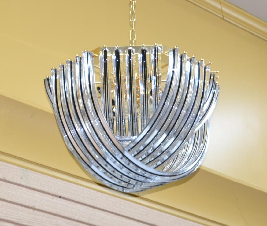 MODERN ARCHED MURANO GLASS CHANDELIER