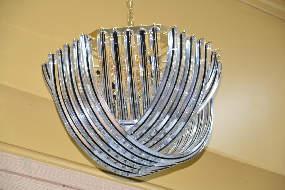 MODERN ARCHED MURANO GLASS CHANDELIER - 2