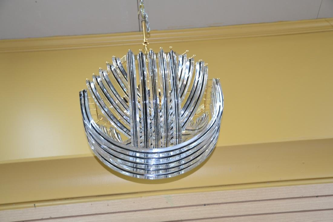 MODERN ARCHED MURANO GLASS CHANDELIER - 4