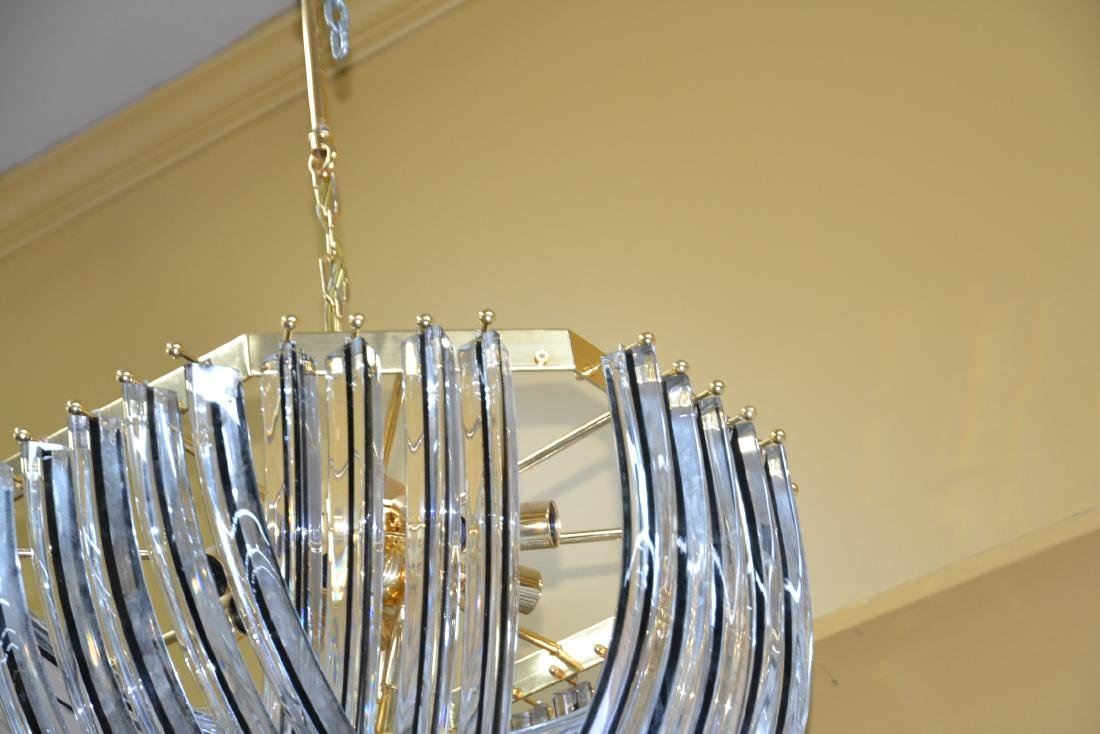 MODERN ARCHED MURANO GLASS CHANDELIER - 5